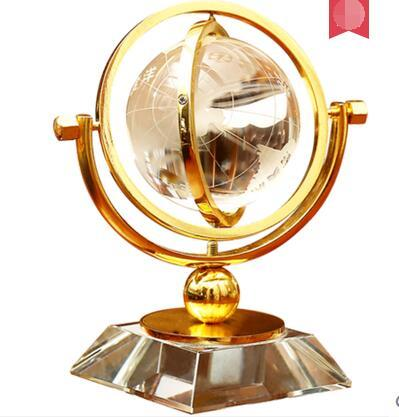Crystal ball decoration globe home furnishings desk study wine cabinet bookcase home living room creative decorations