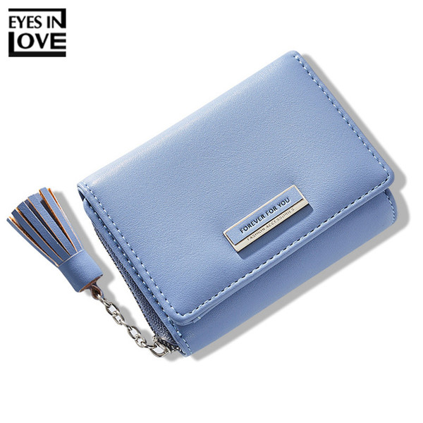 Brand Designer Tassel Female Wallet Trifold Zipper Coin Pocket Card Holder Women Small Wallet Ladies Short Purse Carteras