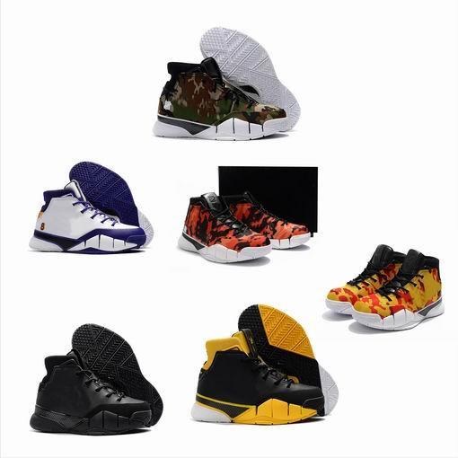 Variété Style Invaincu Zoom kobe 1 Protro Final Seconds Jaune Camo Del Sol Gomme Blanche Maïs Mamba Day Hommes 1s Chaussures Décontractées 7--1