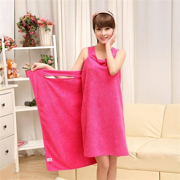 Magic Bath Towels Lady Girls SPA Shower Towel Body Wrap Bath Robe Bathrobe Beach Dress Wearable Magic Towel 9 color for Water Sports