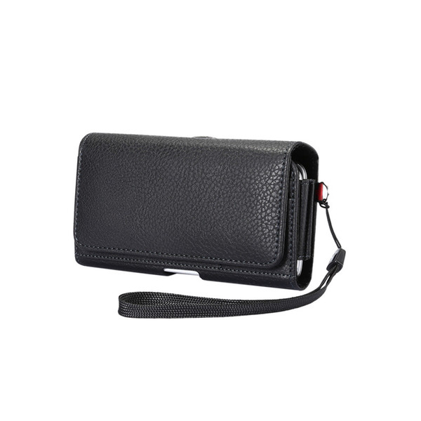 New PU Leather Waist Packs Fanny Pack Men Casual Mobile Phone Bags with Card Holder Dual Pouch Design Multifunction Wallet