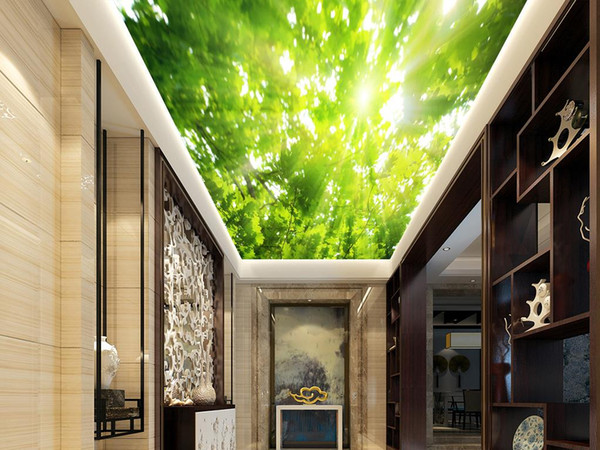 Attraktiv 3d Decke Wandbild Landschaft Malerei Wald Tapeten Wohnkultur Für Wohnzimmer  Decken 3D Tapeten