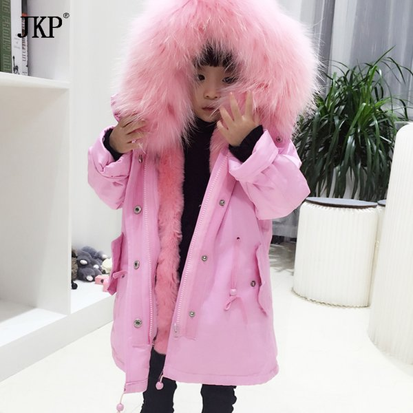 winter children real fur parkas camoufalge kids real fox fur outwear coats boys girls fox rabbit parkas