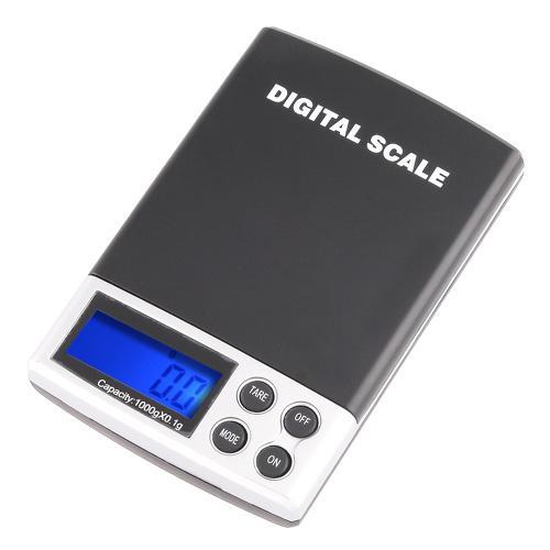 1000g x 0.1g échelle de bijoux de poche électronique à échelle numérique mini balance de poids de précision balance LCD affichage avec boîte de détail