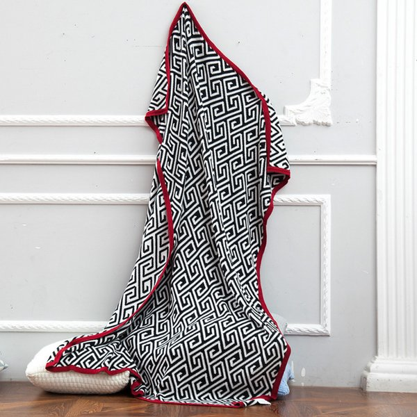 New Designed Blankets 100% Cotton Knited Throw Blanket in 3 Patterns Soft Knited Cotton Blanket 120cm*160cm