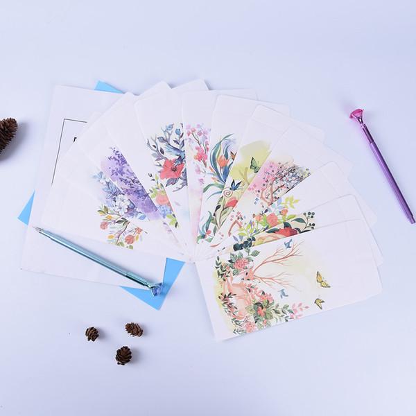 5pcs/lot 11cm*21.5cm Deer White Craft Paper Envelopes for Card Wedding Invitation Photo Storage Christmas Gift Color Randomly