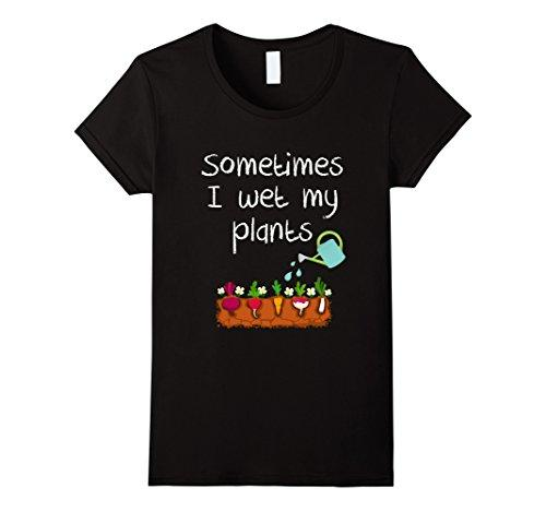 T das mulheres Às vezes Eu Molhado Minhas Plantas Engraçadas Jardinagem T-shirt 2017 Moda Verão T Shirt Das Mulheres Tops Moda Barato Venda Tees Mulheres