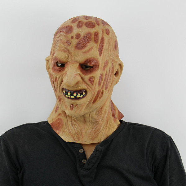 Freddy Krueger Latex Mask Adult Scary Halloween Costume Zombie Theme Cosplay Party Cos Props Carnival