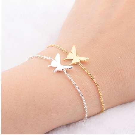 Dainty Butterfly Best Friend Charm Bracelets Bff jewelry Women Stainless Steel Bridesmaid Bracelet Sister Mom Gifts Pulseras