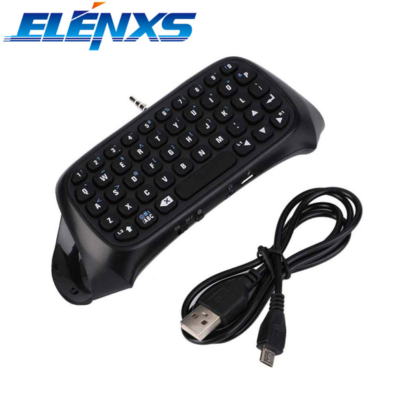 ELENXS Mini Wireless Bluetooth 3.0 Keyboard Black Bluetooth Keyboard for Playstation 4 for PS4 Controller With USB cable