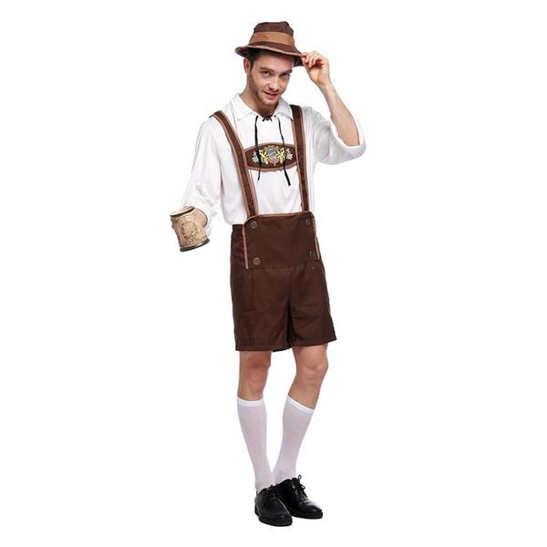 Oktoberfest Halloween Kostüm Erwachsene Bühnenkleidung für Herren