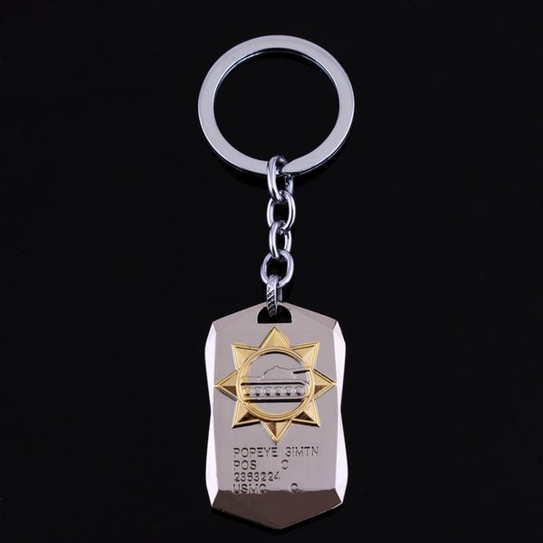 dongsheng WOT Game World of Tanks Keychain Tanks Key Chain Accessories Jewelry Gift for Men Boy Car Sheild Cosplay Keychain-50