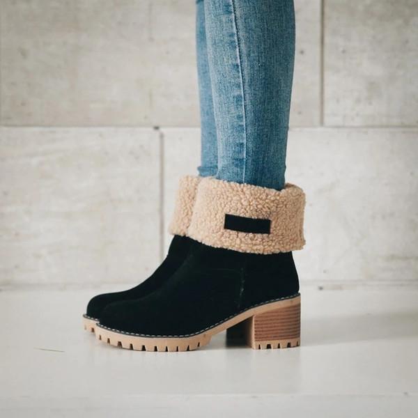 Winter hot women's shoes fashion boots outdoor ski non-slip western Martin boots brand designer quality matte snow work boots plus velvet fr