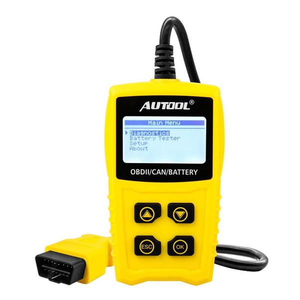 OBD2 12V Code Reader Battery Tester Scan for OBDII EOBD CAN Automotive Scanner Car OBD Diagnostic Tool Code Readers Scan Tools