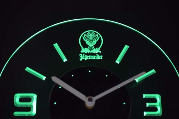 cnc0572 Jägermeister Beleuchtete 3D Neon LED Uhr