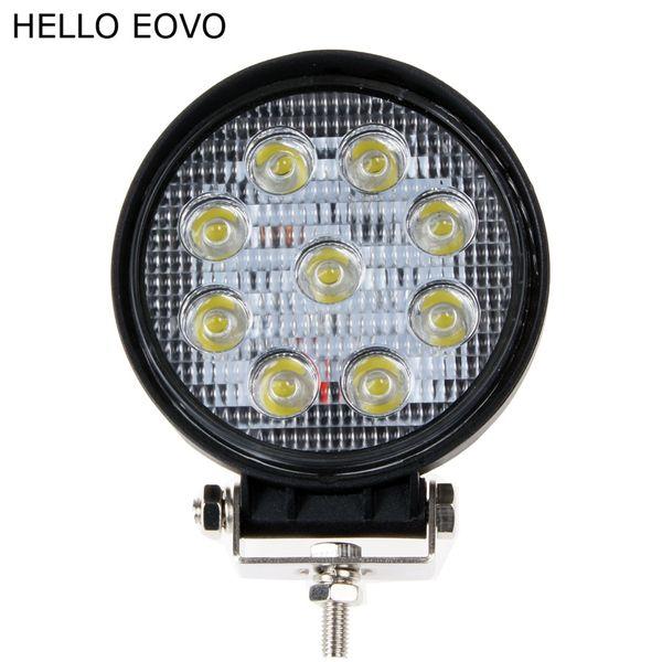 CIAO EOVO 10pcs 4 pollici 27W LED luce del lavoro per gli indicatori di guida di moto fuoristrada barca auto trattore camion 4x4 SUV ATV inondazione