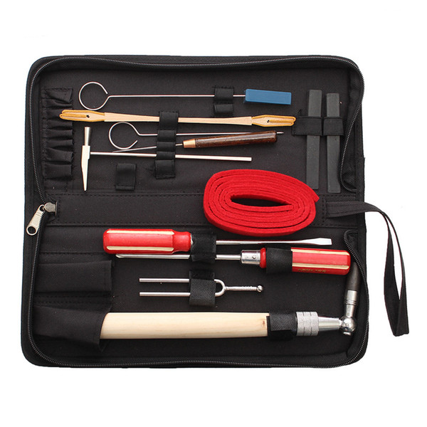 wholesale 13pcs/Set Piano Tuning Maintenance Tools Kit with Case For Piano Musical Instruments Parts Accessories