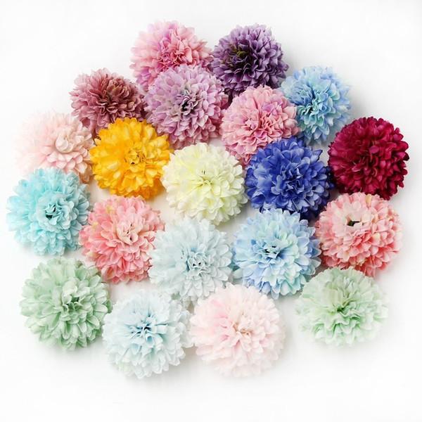 20PCS di sicurezza ead può mescolare il colore della seta Garofano testa di fiore artificiale Per la casa decorazione della festa nuziale fai da te regalo di Scrapbooking del mestiere di flusso ...