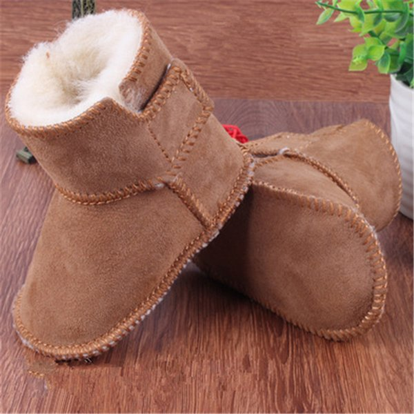 boys girls shoes russia winter infants warm shoes Faux fur girls baby booties Leather boy baby boots Kids & Maternity