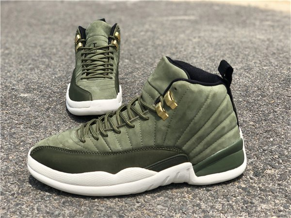 97b876943f2aa9 2018 Newest Release 12 Graduation Pack CP3 12S Chris Paul Class Men Basketball  Shoes Green Suede
