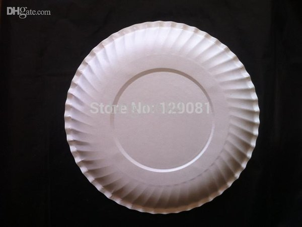 Wholesale 6 Inch Disposable White Paper Plate Paper Plates Cake Pan