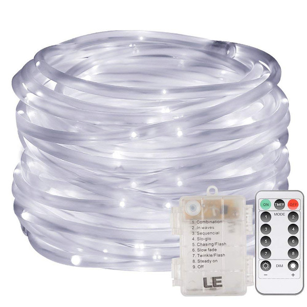 40ft Fairy Led Rope Lights Battery Operated String Lights 8 Modes Waterproof Firefly Lights With Remote Timer For Outdoor Indoor Garden Led Globe