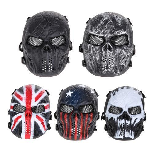 Scary Mask Halloween Skull Mask Army Outdoor Tactical Paintball Mask Full Face Protection Breathable Party Decor Costumes Cosplay