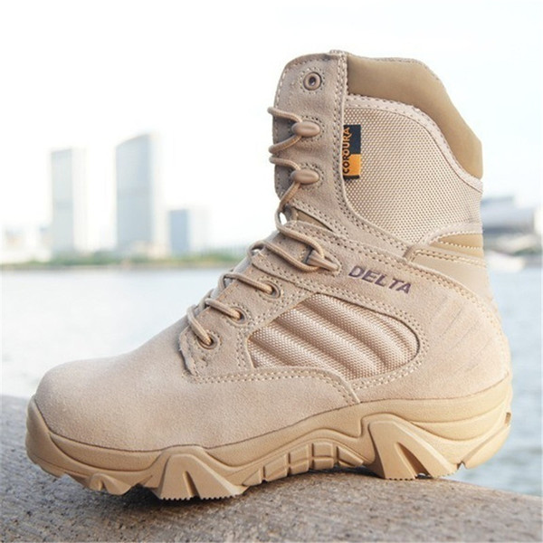 2019 Delta Brand Mens Tactical Boots Desert Combat Outdoor Army Hiking Shoes Travel Botas Shoes Leather Autumn Male Ankle Boots From Aa764080914,