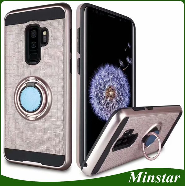 Hot Sale Design Ring Suction Cover Phone Case for Samsung J2 Pro 2018 A5 A8 A7 A8 Plus 2018 LG G7 New Model Kickstand Ring Hybrid Case