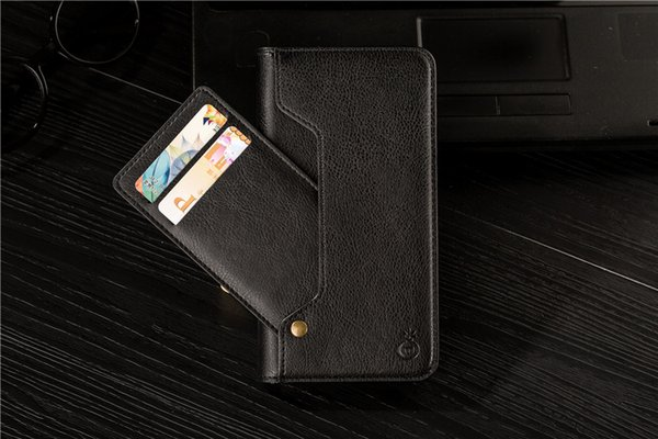 Factory leather phone case For iPhone X 7 7plus Note 8 S8 plus Flip Stand Leather Wallet Case With Photoframe Holder Cover For iphone 8 plus