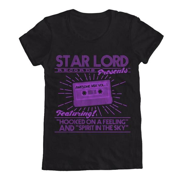 2018 Crossfit T ShirtGuardians of the Galaxy Star Lord Records Women's T-Shirt Funny Printing T Shirts Men Short Sleeve T-shirts