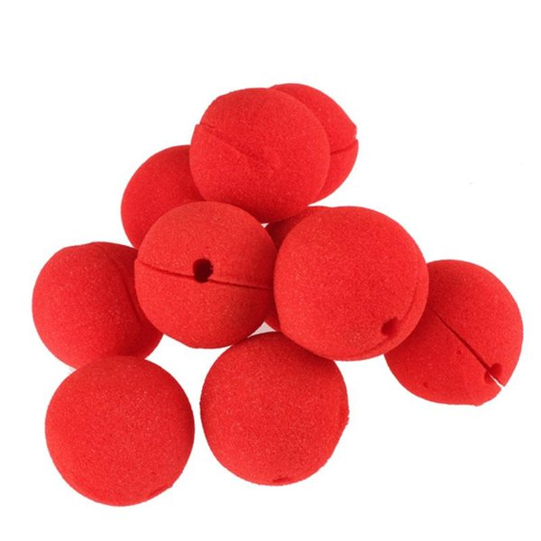 10pcs/lot Magic Party Red Clown Nose Sponge Ball for Halloween Masquerade Kids Costume Ball Party Supplies Clowns Play Props