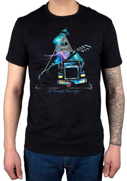 Offizieller Def Leppard durch die Nacht T-Shirt Joe Pyromania Euphoria Merch Mens 2018 Modemarke-T-Shirt O-Ansatz 100% BaumwollT-Shirt