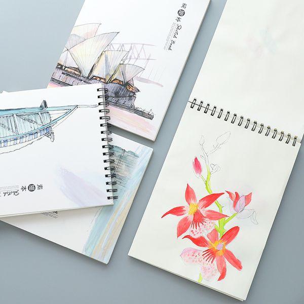 A4 Spiral Sketch Tagebuch für Zeichnung Malerei Graffiti - 50 Blätter Schüler Skizzenbuch Notebook Notepad Schulbedarf