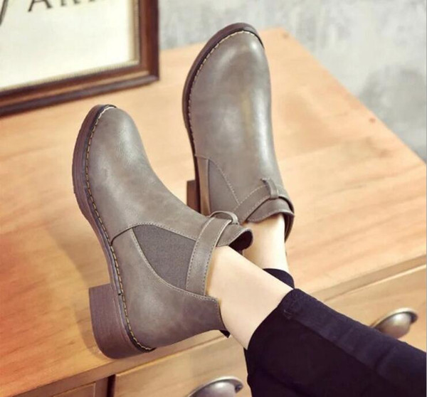 Suede Leather Martin Boots Woman Shoes Winter Plush Warm Short Ankle Boot High Top Motorcycle Botas Lace-up Snow Botines Mujer