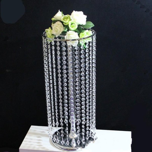 New Creative Romantic Wedding Ceremony Field Arrangement Prop Party Desktop Decorate Ornament Acrylic Crystal Luxury Bead Curtain 68lm aa