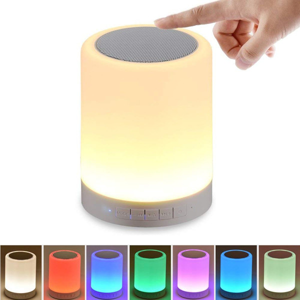 Night Light Bluetooth Speaker,Portable Wireless Bluetooth Speakers,Touch Control,Color LED Speaker,Bedside Table Lamp,Speakerphone/TF Card