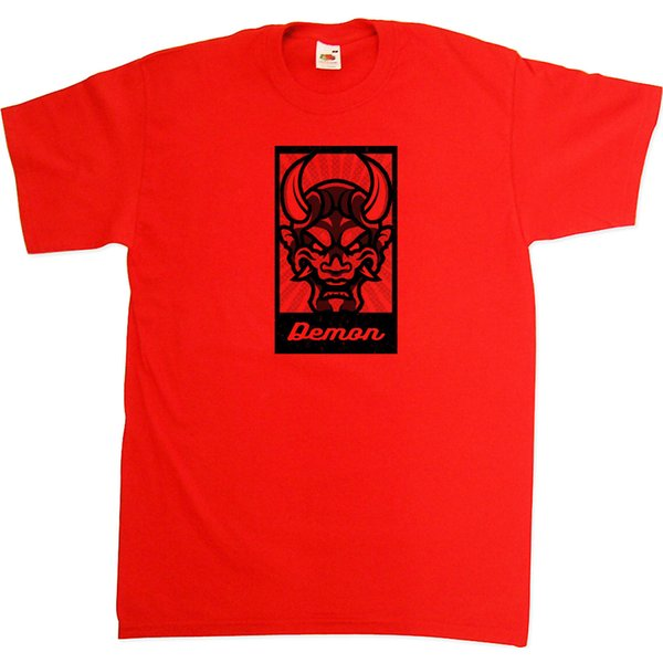 Прохладный мультфильм злой демон монстр дьявол плакат 100% хлопок футболка Футболка тройник топ смешно бесплатная доставка повседневная tee