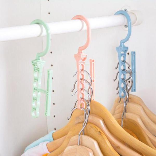 5Hole Space Saver Wonder Magic Hook Hanger Closet Organizer Space Save Practical Saver Hanger Closet L629