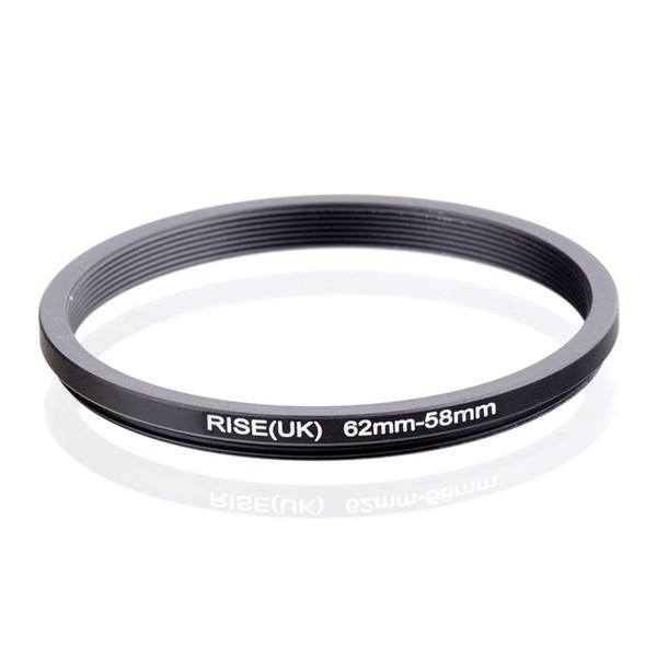 RISE(UK) 62mm-58mm 62-58mm 62 to 58 Step down Ring Filter Adapter black free shipping