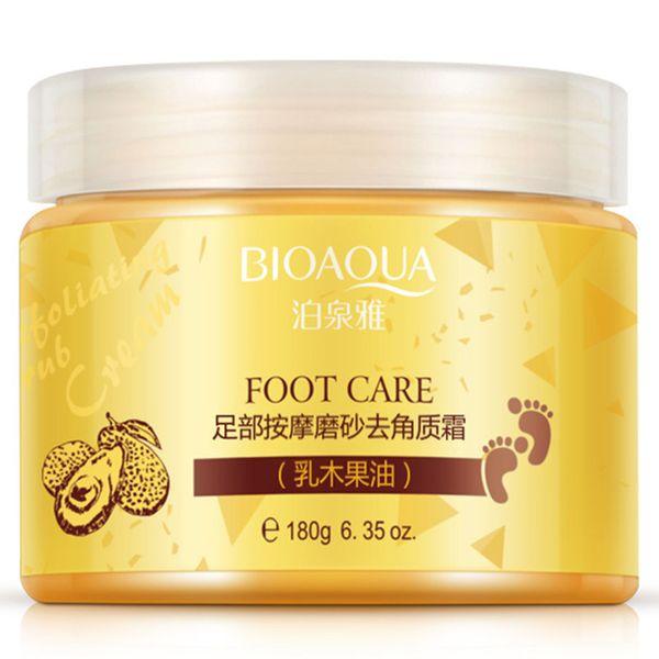 Hot Sale BIOAQUA 24K GOLD Shea Buttermassage Cream Peeling Renewal Mask Baby Foot Skin Smooth Care Cream Exfoliating Foot Mask 120pcs