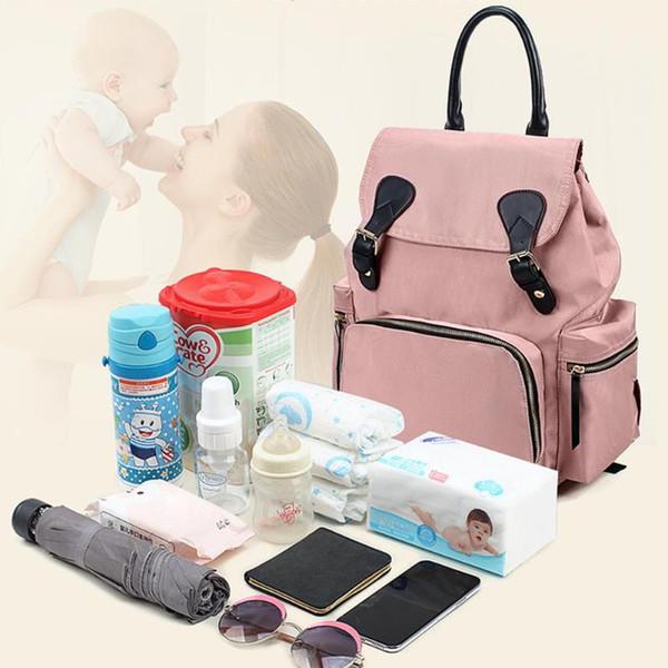 Su geçirmez Bebek Çantası Büyük Bezi Çanta Mumya Doğum Seyahat Hemşirelik Sırt Çantası Anne Sırt Çantası Kadın Taşıma Bakım Çantaları