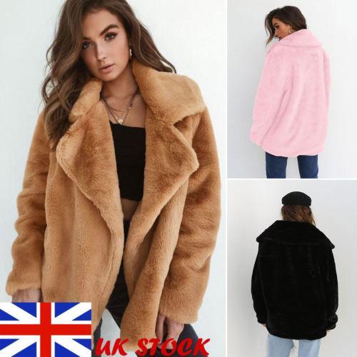 Moda nuove donne inverno caldo Outwear signore Teddy Bear soffici maniche lunghe Cappotto