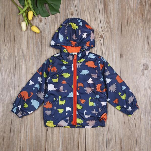 Pudcoco 2018 Yeni Tollder Çocuk Bebek Giyim Boys Çocuk Kapşonlu Su Geçirmez Windbreak Kabanlar Yağmurluk Giysi özellikleri CX