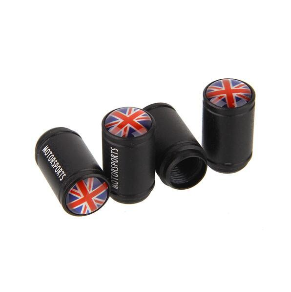 Union Jack UK Italy Germany France USA F1 flag Car Styling Aluminum Alloy Tire valve caps Motorsports wheel Tyre dust air cover Nozzle Cap