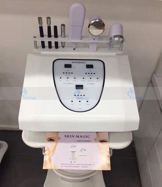 New 5 in 1 Ultrasonic Skin Scrubber Face Lift Rejuvenation Body Massage Galvanic Ion Nutrition Injection Salon Use Facial Beauty Machine