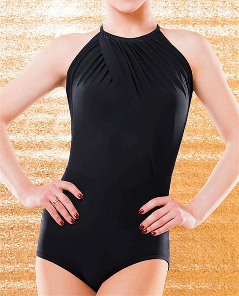 Free Shipping Black Adult/Girls Latin Dance Bodysuit Salsa Tango Modern Ballroom Competition Dance Dress Sexy Sleeveless Top/T-Shirt