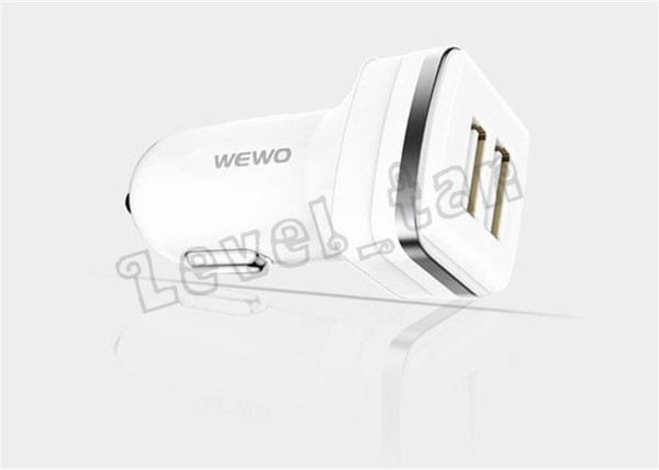 Good Quality WEWO USB Car Charger Dual USB Output 2.4A Quick Car Battery Charging 12 - 24V Input Car Chargers For Phones