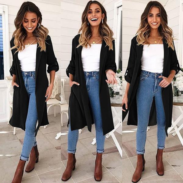 efc355958 Compre 2018 Nueva Moda Para Mujer Trench Coat Outwear Ropa Otoño Invierno  Casual Warm Streetwear Ropa Femenina Roupas Feminina A $29.86 Del Layette66  ...