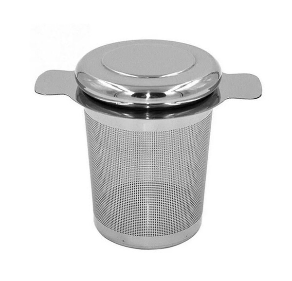 Tea Strainer Reusable Stainless Steel Basket Fine Mesh With 2 Handles Lid Tea And Coffee Filters For Loose Tea Leaf